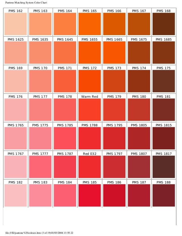 PMS Colors Used For Printing