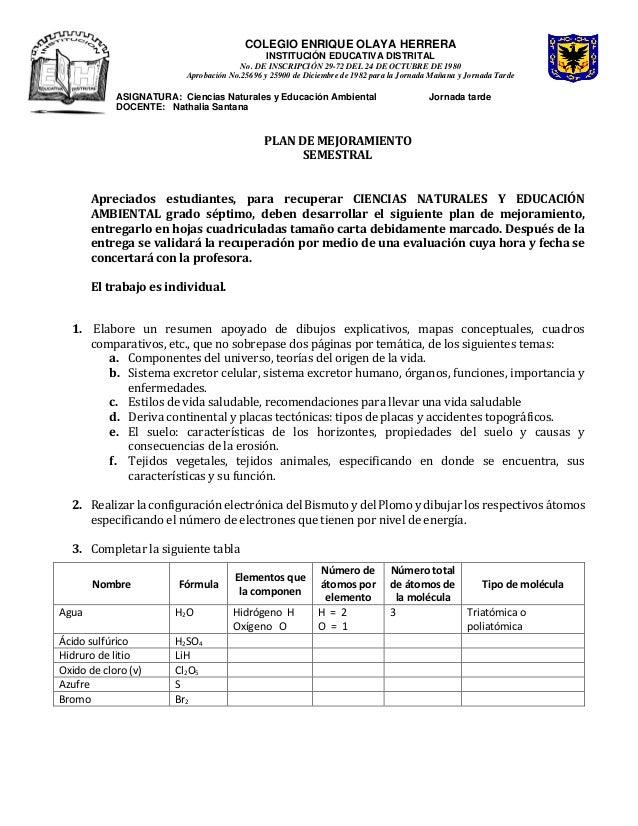 COLEGIO ENRIQUE OLAYA HERRERA INSTITUCIÓN EDUCATIVA DISTRITAL No. DE INSCRIPCIÓN 29-72 DEL 24 DE OCTUBRE DE 1980 Aprobació...