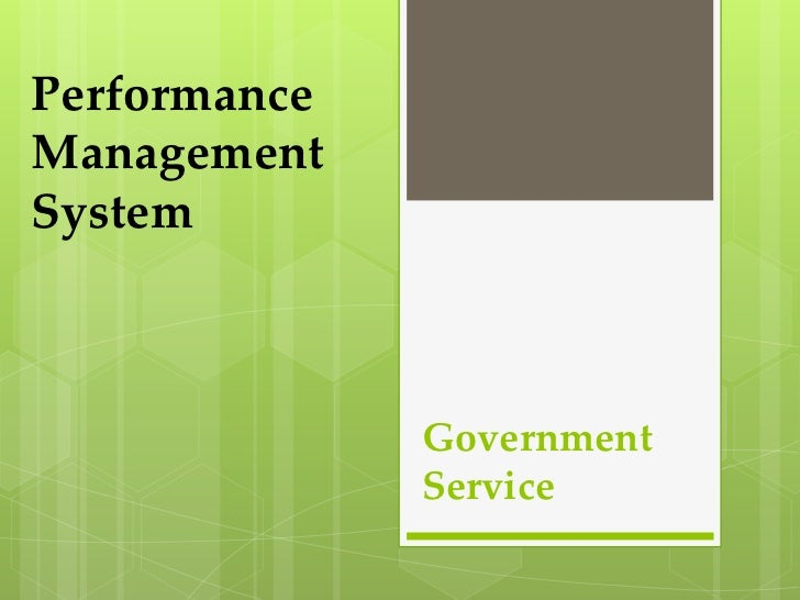 PerformanceManagementSystem              Government              Service