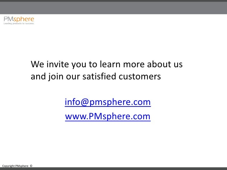 We invite you to learn more about us                   and join our satisfied customers                            info@pm...