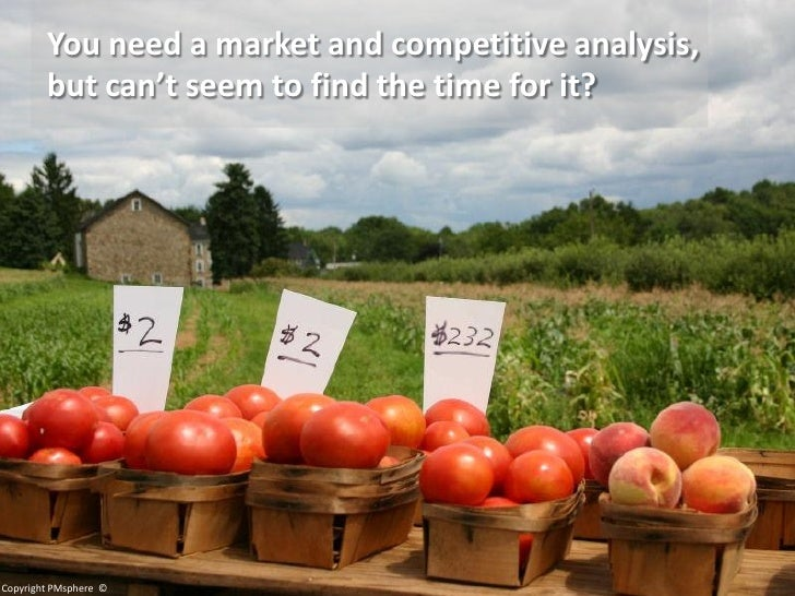 You need a market and competitive analysis,         but can't seem to find the time for it?     Copyright PMsphere ©