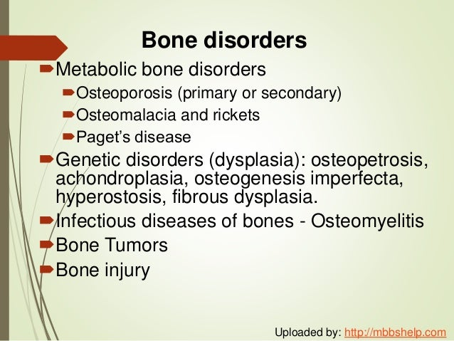 PATHOLOGY OF THE MUSCULOSKELETAL SYSTEM Slide 2