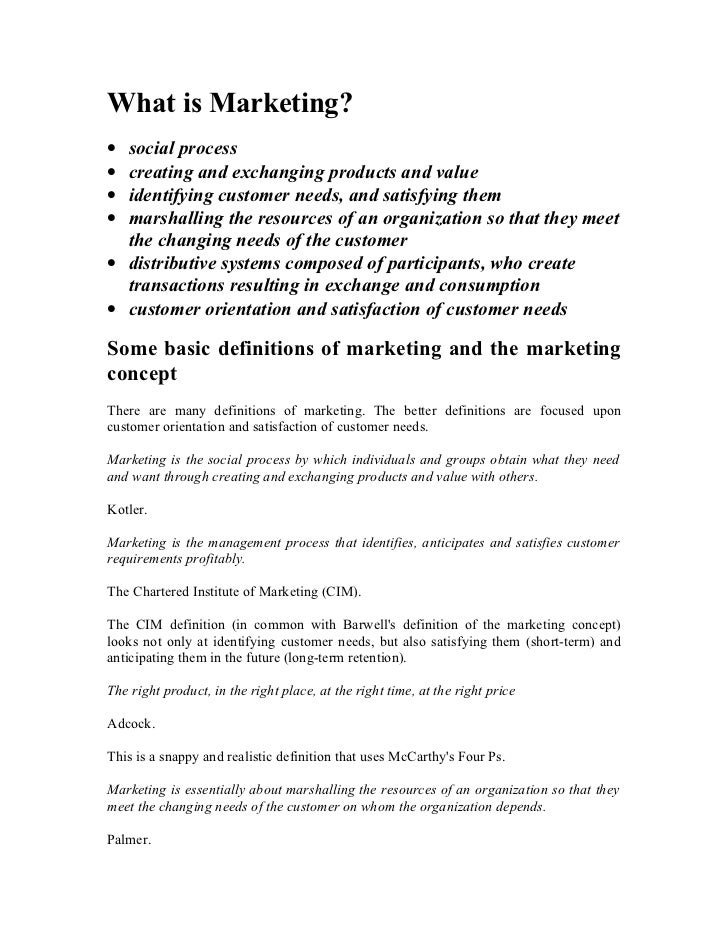 Pmt L1 What Is Marketing Nature And Scope