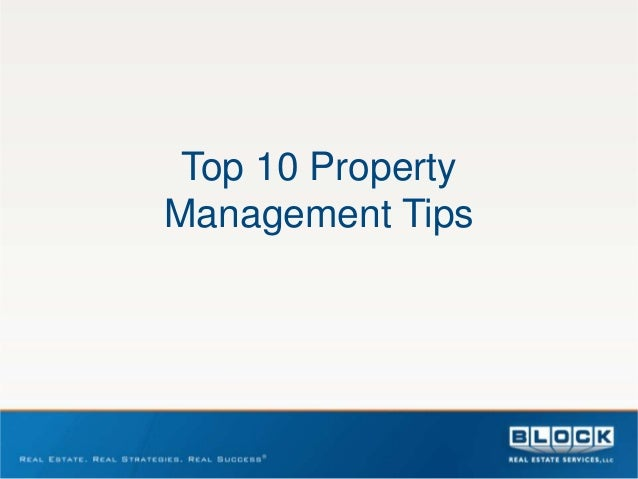 Top 10 PropertyManagement Tips