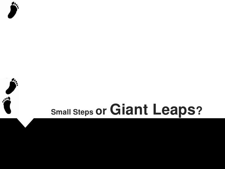 Small Steps or Giant Leaps?<br />