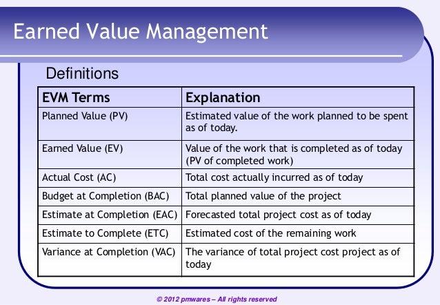 Earned Value Management Pdf