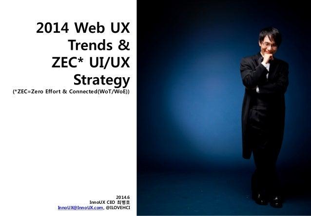 (*ZEC=Zero Effort & Connected(WoT/WoE)) 2014.6 InnoUX CEO 최병호 InnoUX@InnoUX.com, @ILOVEHCI