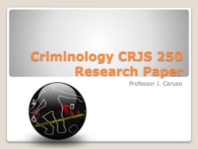 Criminology term paper