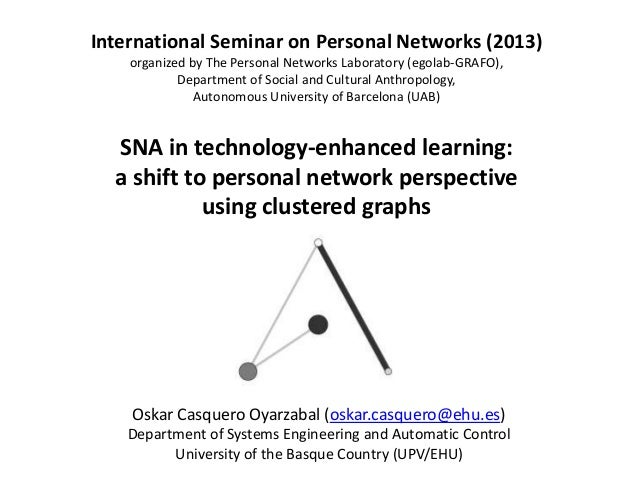 SNA in technology-enhanced learning: a shift to personal network perspective using clustered graphs International Seminar ...