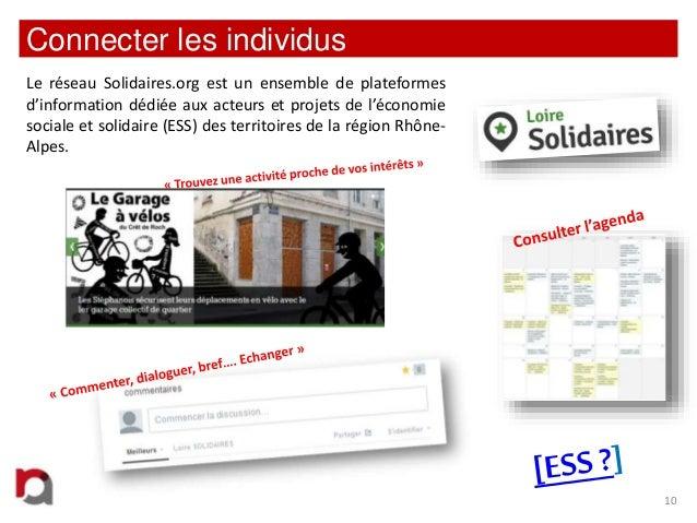 Connecter les individus Le réseau Solidaires.org est un ensemble de plateformes d'information dédiée aux acteurs et projet...