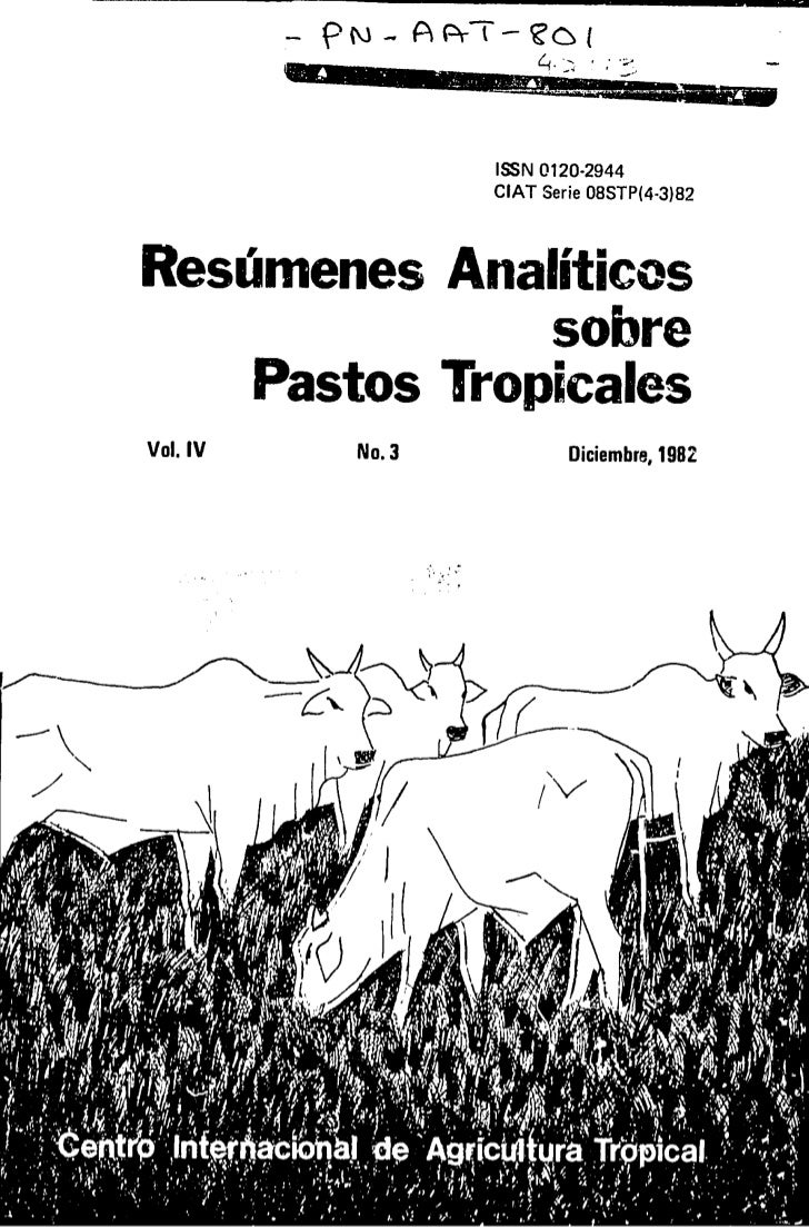 cs                       ISSN 0120-2944                       CIAT Serie 08STP(4-3)82Resumenes Analiticos               so...