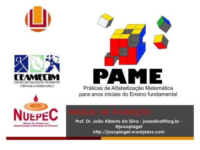 Módulo de Avaliação Prof. Dr. João Alberto da Silva - joaosilva@furg.br - @joaopiaget http://joaopiaget.wordpress.com
