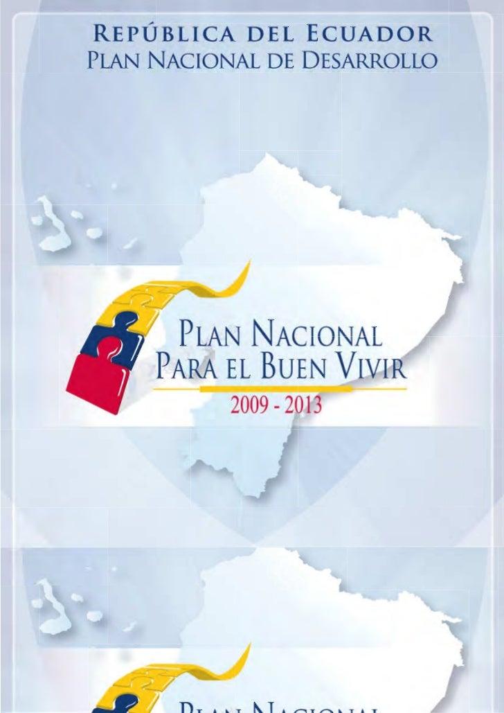 REPÚBLICA DEL ECUADOR                               CONSEJO NACIONAL DE PLANIFICACIÓN                                     ...