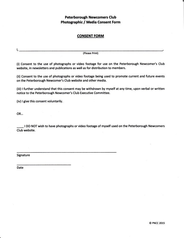Video Consent Form Permission Of Access And Actor Consent Form