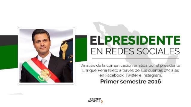 Objetivo Analizar la comunicación del presidente Enrique Peña Nieto a través de sus cuentas oficiales en Facebook, Twitter...
