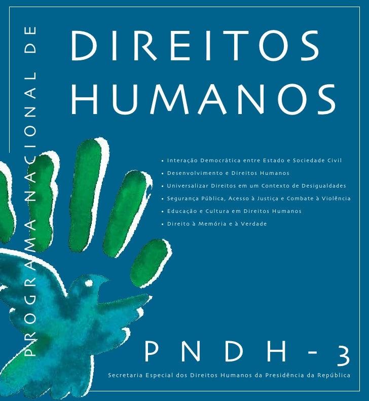 DIrEItoSProgrAMA nACIonAl DE                       HUMAnoS                                      • Interação Democrática en...
