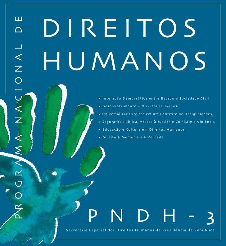 """PNDH-3: """"Programa Nacional Direitos Humanos"""", 3ª Edição."""