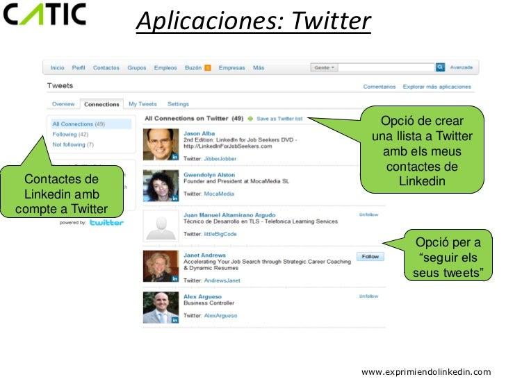 Aplicaciones: Twitter                                            Opció de crear                                           ...