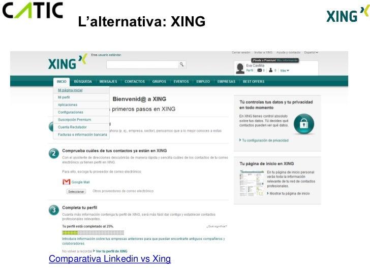 L'alternativa: XINGComparativa Linkedin vs Xing