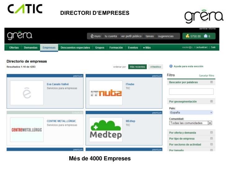 DIRECTORI D'EMPRESES  Més de 4000 Empreses