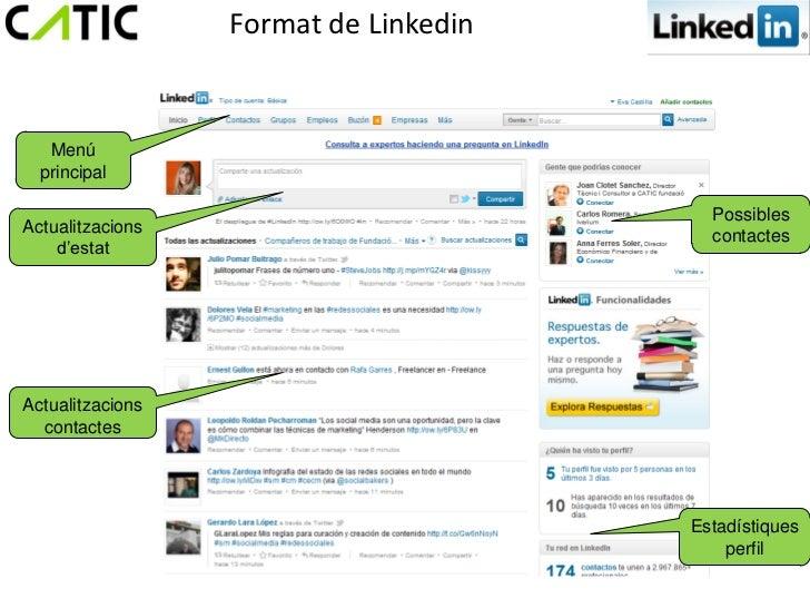 Format de Linkedin   Menú  principal                                         PossiblesActualitzacions                     ...