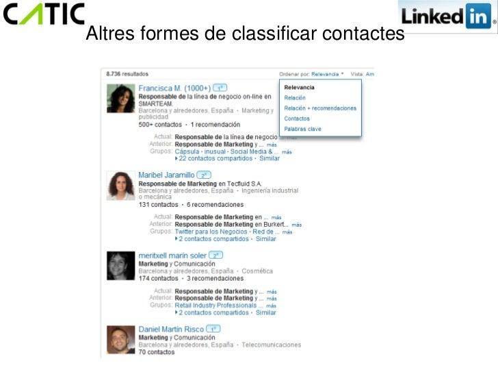 Altres formes de classificar contactes