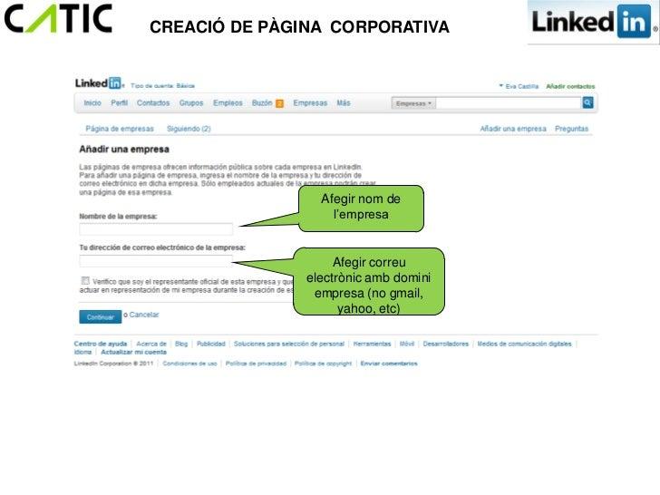 CREACIÓ DE PÀGINA CORPORATIVA                 Afegir nom de                   l'empresa                    Afegir correu  ...
