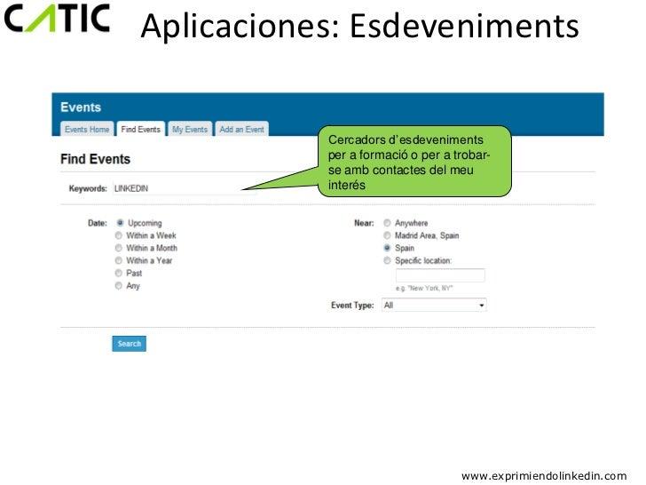 Aplicaciones: Esdeveniments           Cercadors d'esdeveniments           per a formació o per a trobar-           se amb ...