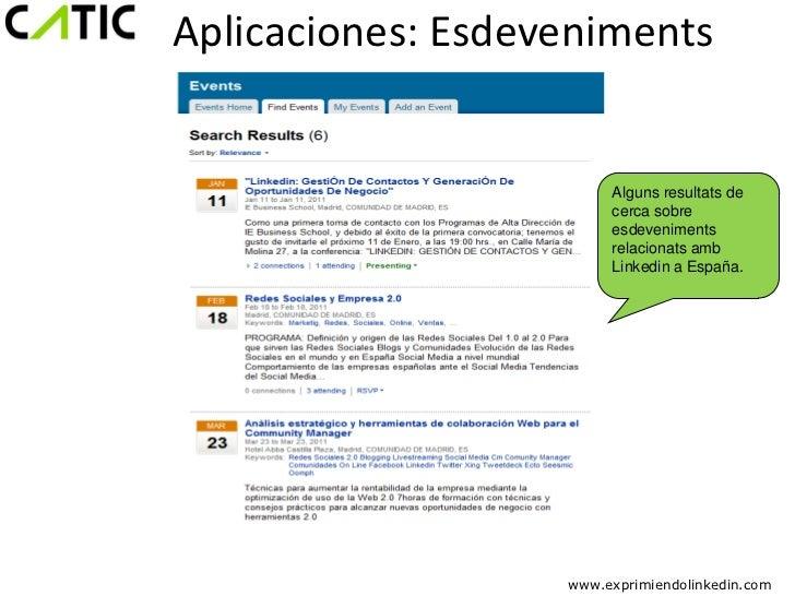 Aplicaciones: Esdeveniments                        Alguns resultats de                        cerca sobre                 ...