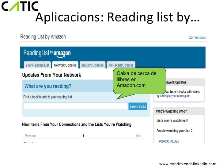 Aplicacions: Reading list by…              Caixa de cerca de              llibres en              Amazon.com              ...