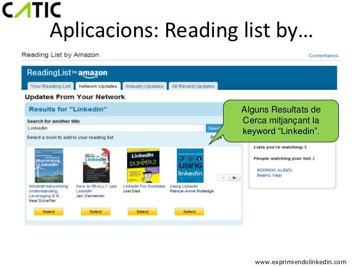 Aplicacions: Reading list by…                     Alguns Resultats de                     Cerca mitjançant la             ...