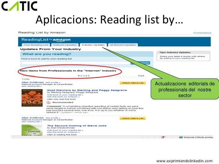 Aplicacions: Reading list by…                       Actualizacions editorials de                        professionals del ...