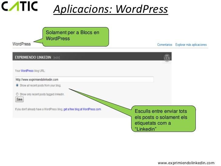 Aplicacions: WordPressSolament per a Blocs enWordPress                          Esculls entre enviar tots                 ...