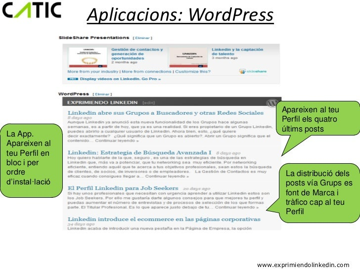 Aplicacions: WordPress                                            Apareixen al teu                                        ...