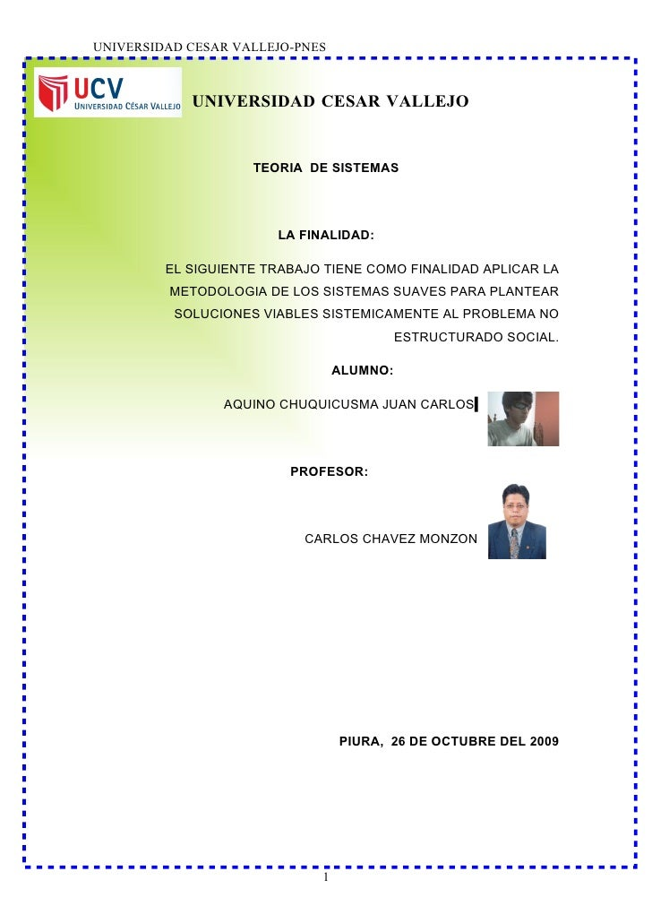 UNIVERSIDAD CESAR VALLEJO-PNES                UNIVERSIDAD CESAR VALLEJO                       TEORIA DE SISTEMAS          ...