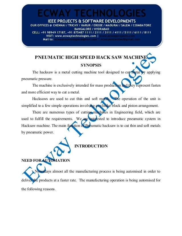 Pneumatic High Speed Hack Saw Machine 1