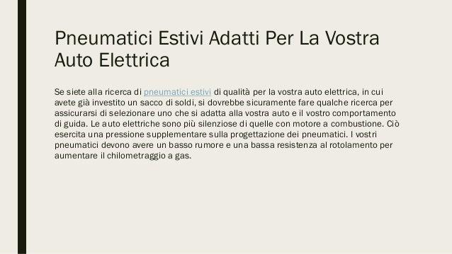 Pneumatici estivi adatti per la vostra auto elettrica Slide 3