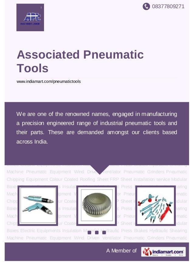 08377809271A Member ofAssociated PneumaticToolswww.indiamart.com/pneumatictoolsPneumatic Equipment Wind Driven Ventilator ...