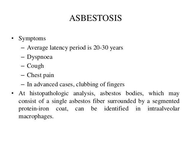 Asbestosis Monitoring
