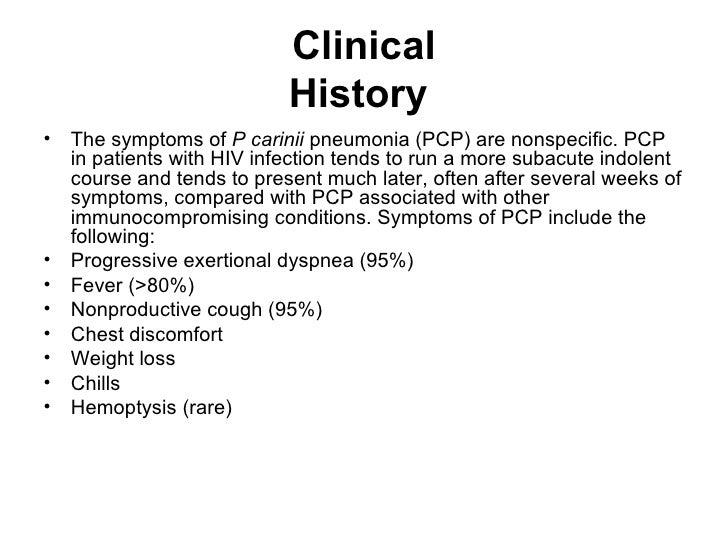 Pneumocystis (Carinii) Jiroveci Pneumonia