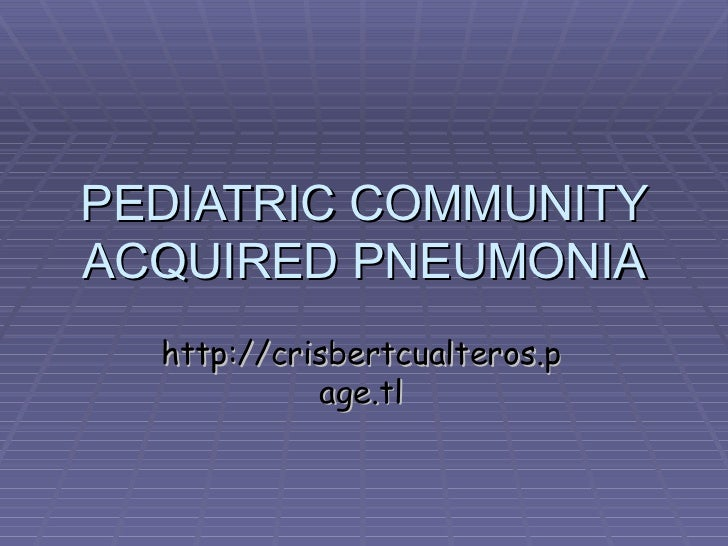 pediatric pneumonia guidelines 2017 pdf