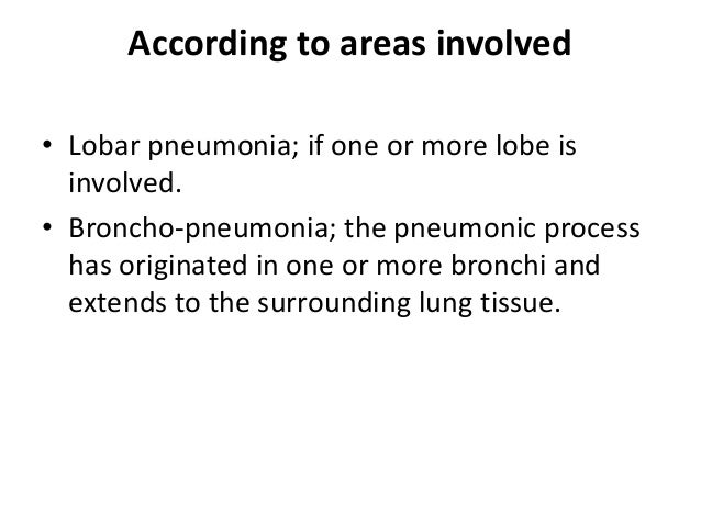 disease process pneumonia Pneumonia is an infection of the lungs caused by bacteria, viruses, fungi,   including older adults, infants and people with other diseases, are.