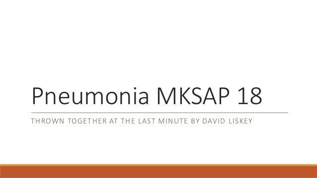 Pneumonia mksap 18