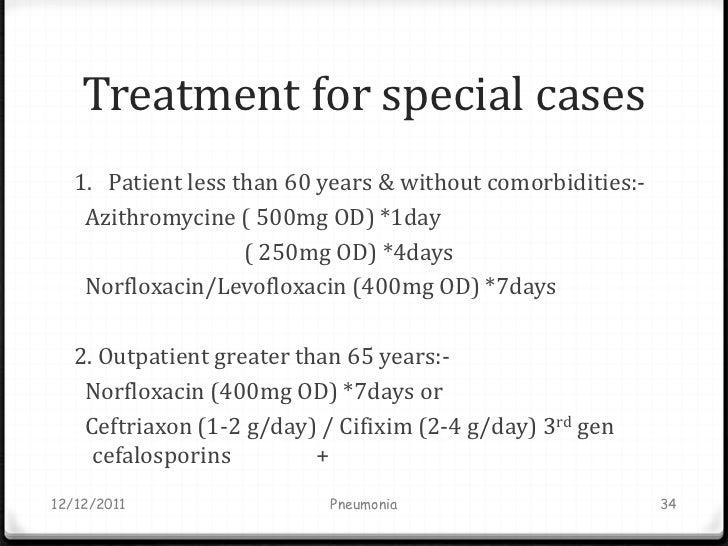 Post viral pneumonia and zithromax