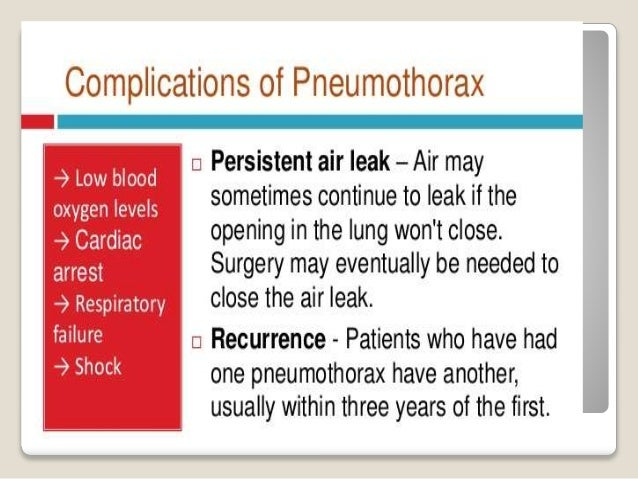 ManAgement AIM;  Relieve pressure on the lungs to ensure normal breathing by removing air  Re-expanding the lungs  Prev...