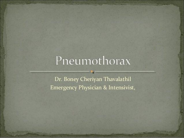 Dr. Boney Cheriyan Thavalathil Emergency Physician & Intensivist,