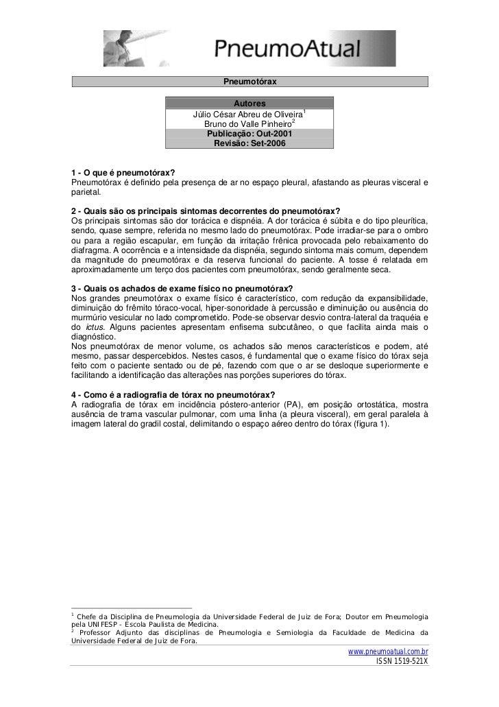 Pneumotórax                                              Autores                                  Júlio César Abreu de Oli...