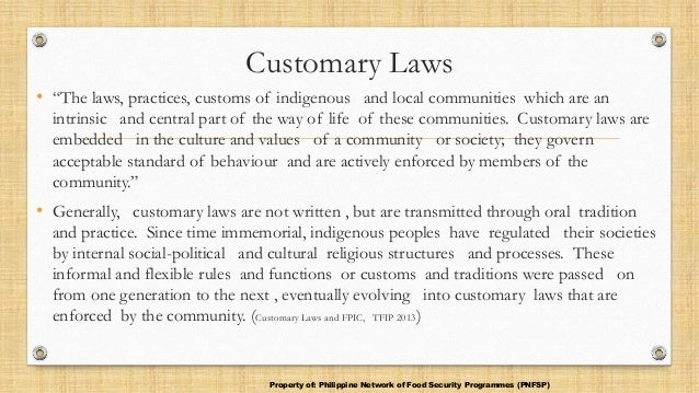 1 Aboriginal Customary laws and the Criminal Justice System