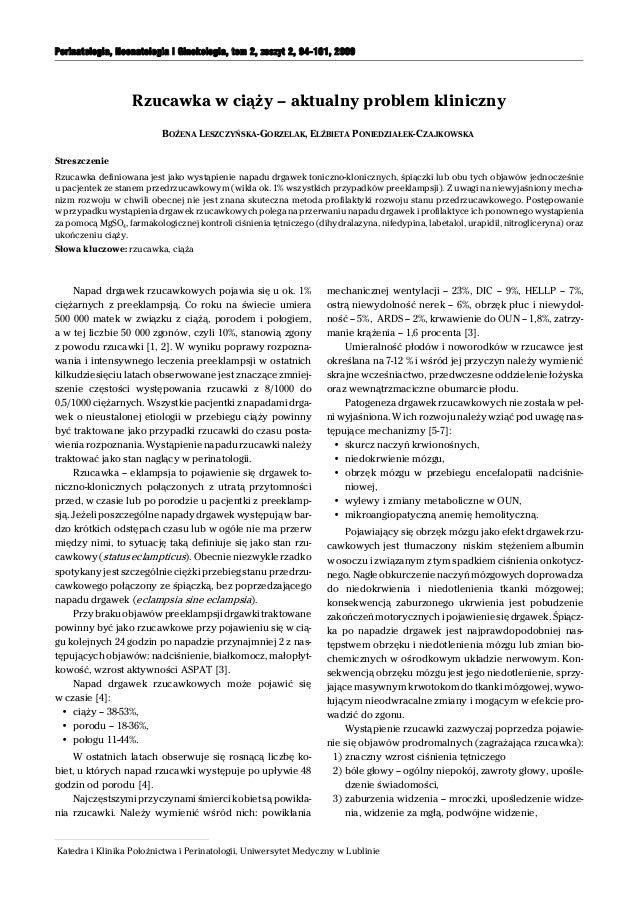 Katedra i Klinika Położnictwa i Perinatologii, Uniwersytet Medyczny w Lublinie Perinatologia, Neonatologia i Ginekologia, ...
