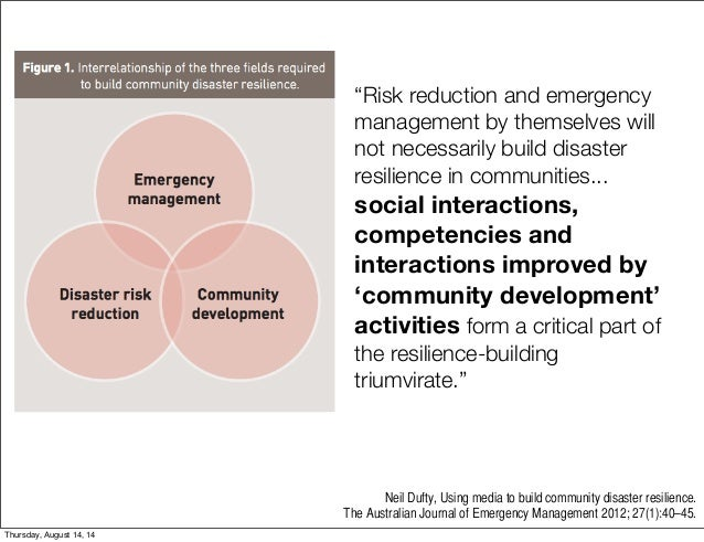 Using Social Media To Build Community Disaster Resilience